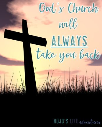 Do you feel a calling to go back to church? Maybe you're scared that God doesn't want you anymore. This post will give you the encouragement you need!