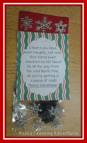 Christmas Coal with FREE Printable