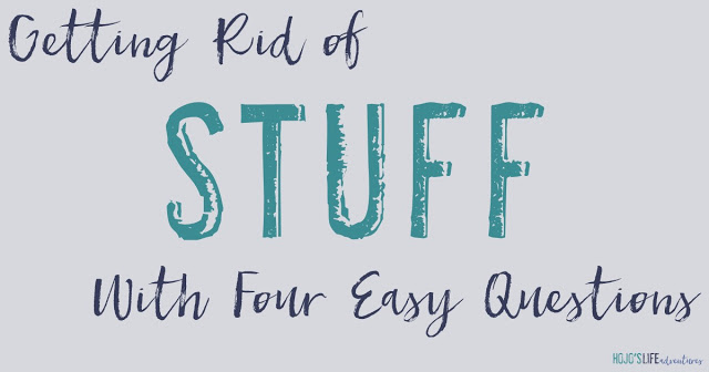 """Sometimes we accumulate a lot of """"stuff"""". Getting rid of these items can be a challenge! Now you can simply ask yourself four questions to decide whether or not that """"stuff"""" should find a permanent place in your home!"""