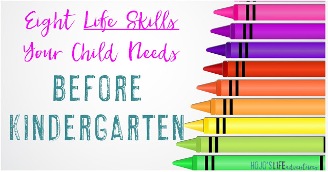 Here are eight life skills your child needs BEFORE Kindergarten, as told by a former Kindergarten teacher! #2 is pretty obvious, but #8 might surprise you!