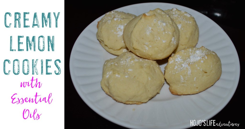 These amazing creamy lemon cookies infused with essential oils are sure to be a hit in your home or at the office! Even if you're not a huge fan of lemon, you can alter this recipe to make it as lemon-y as you'd like!