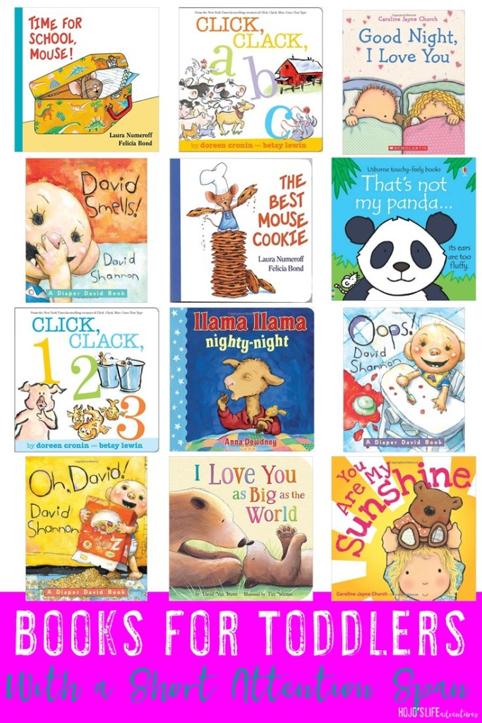 Do you have a baby or toddler with a short attention span? Then you're going to LOVE these books for toddlers with a short attention span! You'll get ideas to help them learn to love books! Check out the word count, start reading short stories, and get them hooked on reading! Plus there are a few other great tips as well!