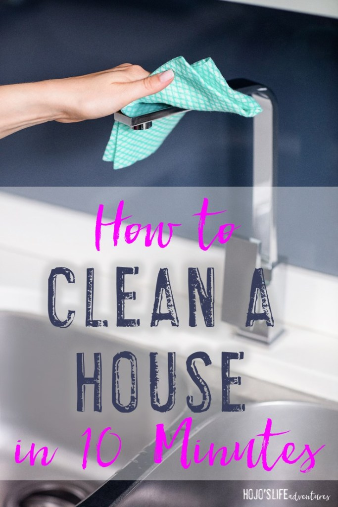 Wondering how to clean a house in 10 minutes? Here are three tips that'll help you keep on top of the day-to-day cleaning OR help you out the next time you have 10 minutes before unexpected guests.