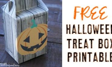 FREE Halloween Treat Box Printable