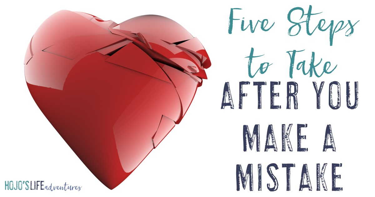 We all make mistakes. Many times we beat ourselves up over them. But today we're going to discuss five steps to take after you make a mistake. You'll walk away from each mistake feeling better AND having learned a great life lesson!