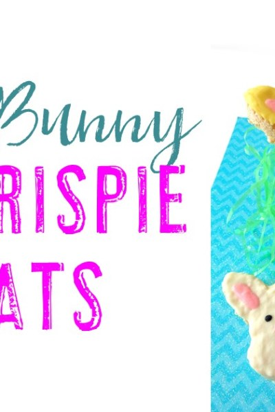 White Chocolate Covered Easter Bunny Rice Krispie Treats