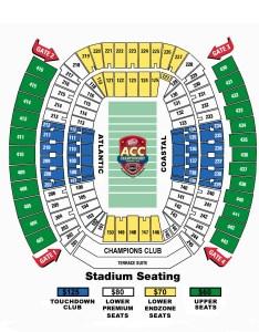 Jacksonville municipal stadium seating chart also hokietickets rh
