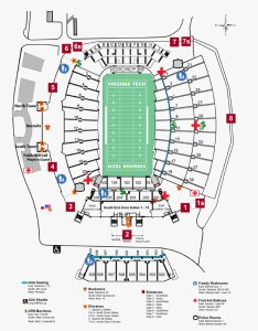 Virginia tech lane stadium seating chart also hokietickets rh