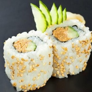 Futomaki salmon teriyaki inside out