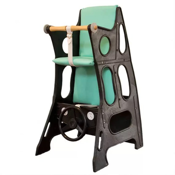 Black – Mint Green Hokus Pokus Swedish High Chair 3 in 1 Rocking Chair Table Highchair
