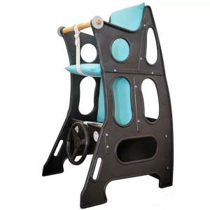 Black-Turquoise Hokus Pokus Swedish High Chair
