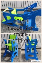 Blue Hokus Pokus - After Hokus Pokus Swedish High Chair 3 in 1 Rocking Chair Table Highchair