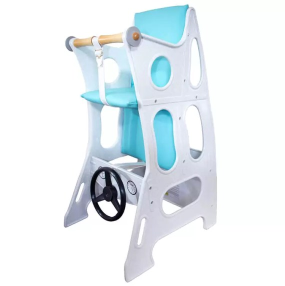 Marble-Turquoise Hokus Pokus Swedish High Chair 3 in 1 Rocking Chair Table Highchair