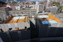 建築中を上から撮影してみました