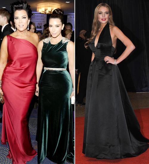 Kris Jenner, Kim Kardashian y Lindsay Lohan
