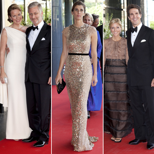 Felipe y Matilde de Bélgica, Rosario Nadal y Pablp y Marie-Chantal de Grecia