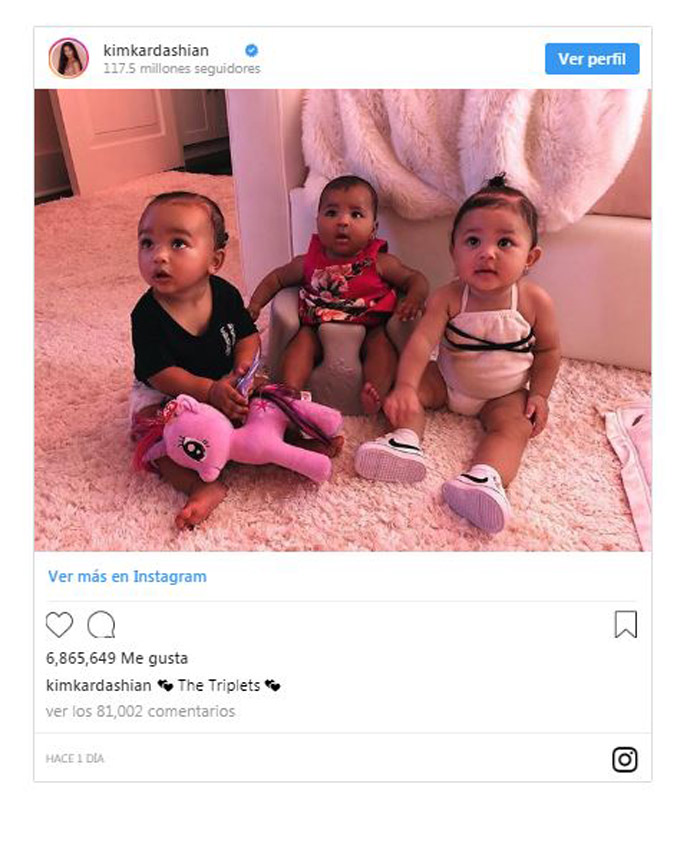 Kim Kardashian publica una foto de Chicago True y Stormi la nueva generacin de las Kardashians