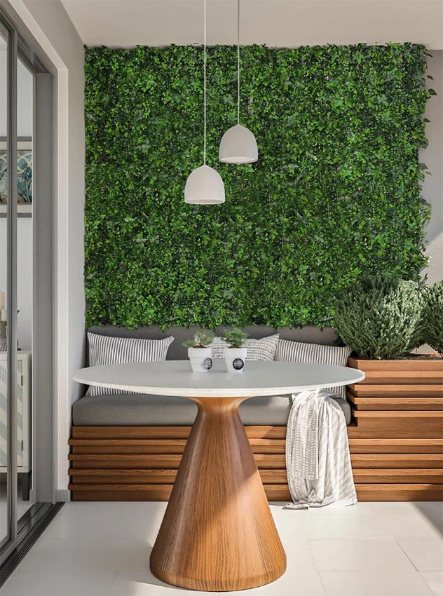 Césped artificial para decorar paredes