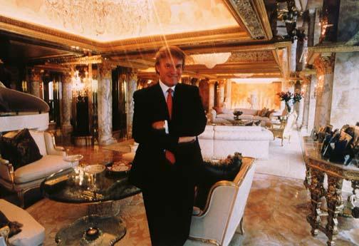 El apartamento dorado de Donald Trump en Nueva York  Foto