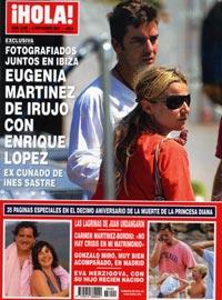 Eugenia Martnez de Irujo con Enrique Lpez ex cuado de