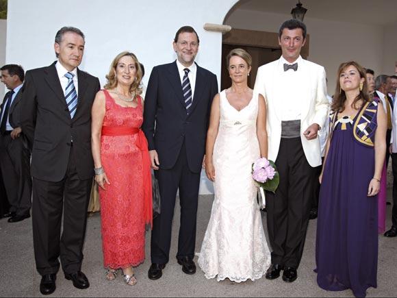Mariano Rajoy asiste a la boda de Mnica Ridruejo ex
