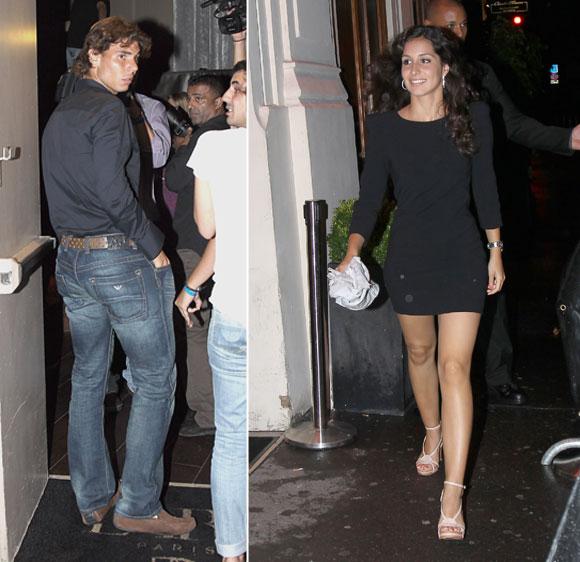 Rafa Nadal celebra con su novia Mara Francisca Perell