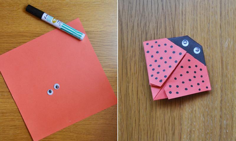 Manualidades fciles Cmo hacer una linda mariquita de papel  Foto