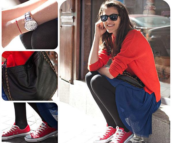 Street Style se viste de rojo el color atemporal