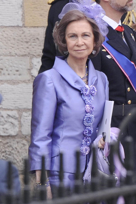 Importante presencia de la reina Sofa en la boda del ao