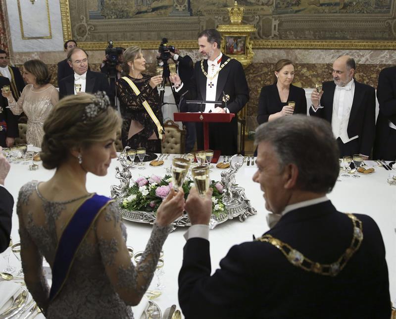 Cena de gala en el Palacio Real en honor al Presidente de