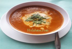 Basil-Tomato-Soup-300x204 CREAMY BASIL TOMATO CARROT SOUP