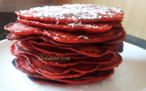 apples-in-water APPLE SAUCE RED VELVET PANCAKES