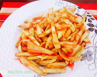 Fries-Method-2 HOMEMADE CRUNCHY FRENCH FRIES (CHIPS) IN TWO WAYS