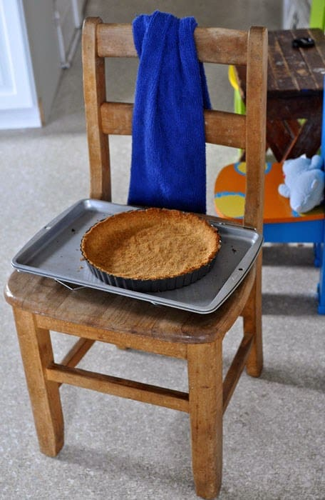 Mexican chocolate tart with saltine and graham cracker crust