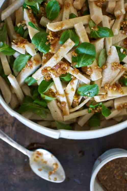 Jicama Slaw with Ginger Molasses Vinaigrette