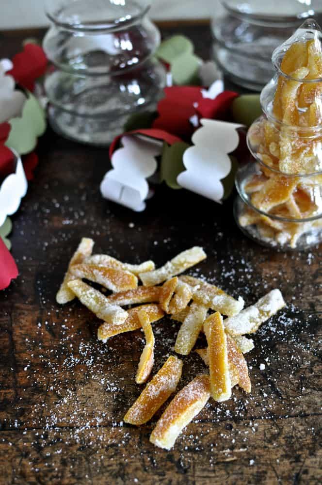 Candied Orange Peel {The Best DIY Christmas Gift}