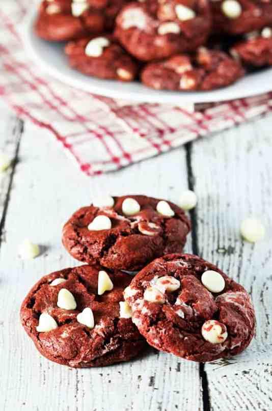 Red Velvet Cream Cheese Swirl Cookies from Host the Toast