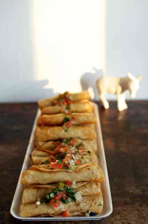 Chipotle Chicken Flautas for a crowd