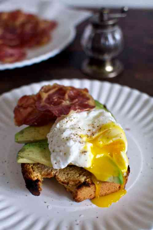 Toasted Beer Cornbread with Avocado