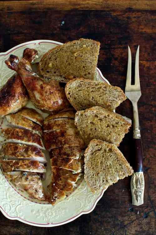Garlic Roast Chicken with