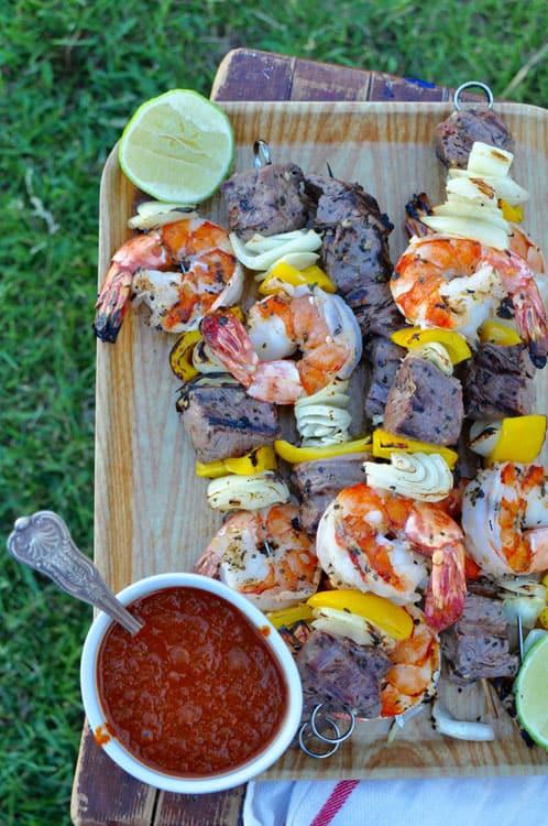 shrimp and steak kabobs