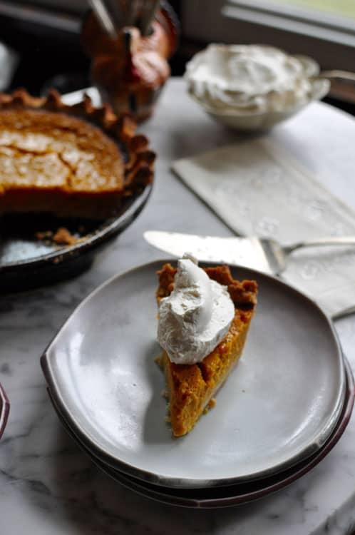 Buttermilk Pumpkin Pie with Bourbon Vanilla