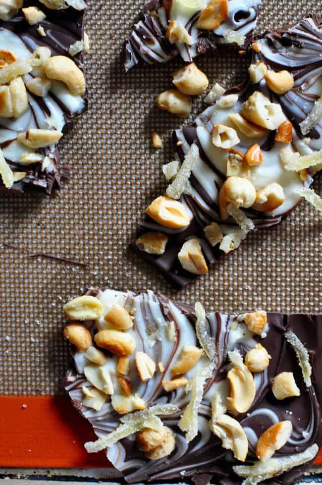 Dark Chocolate Bark with Cashews Recipe