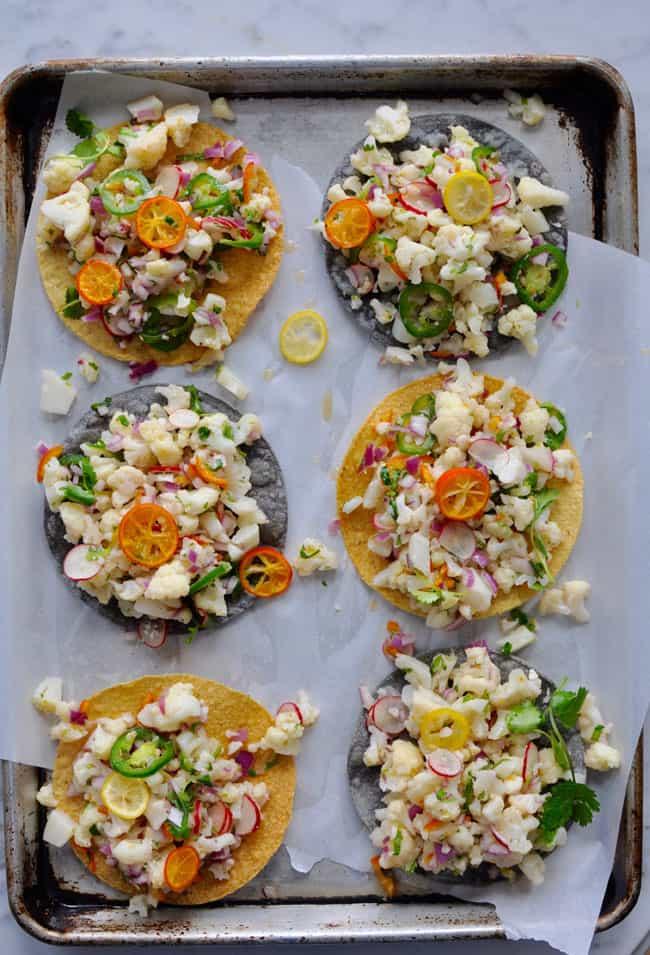 Cauliflower Ceviche Tostada Recipe