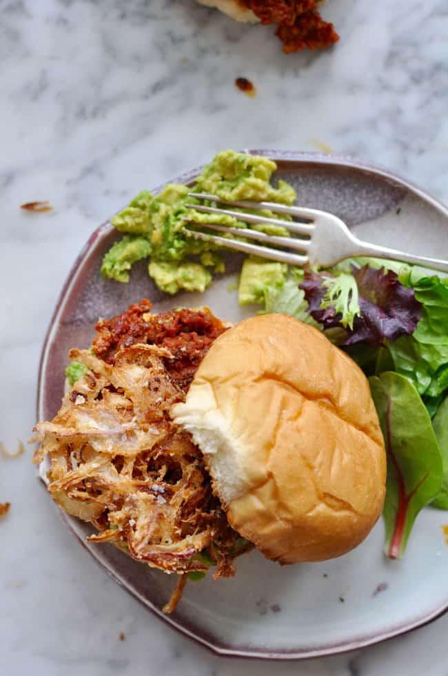 Chorizo Burgers with Crispy Onions Recipe