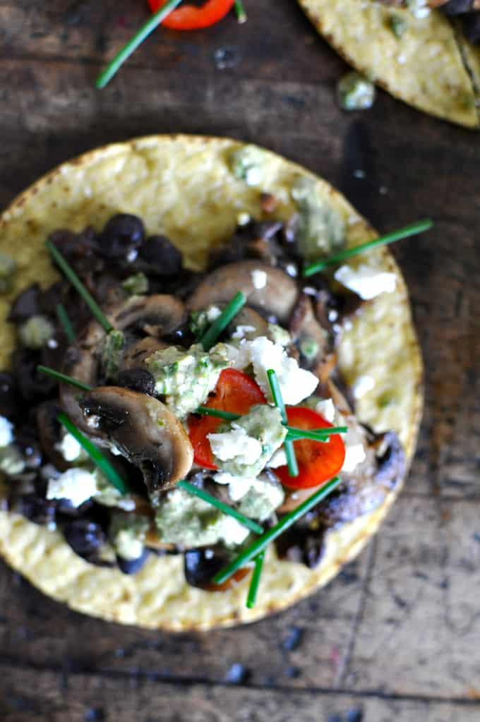 Mixed Mushroom Tostadas Recipe