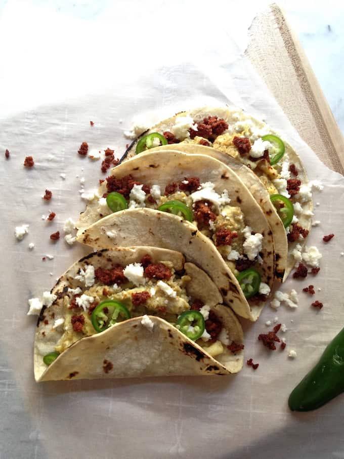 Quinoa and Queso Breakfast Tacos Recipe