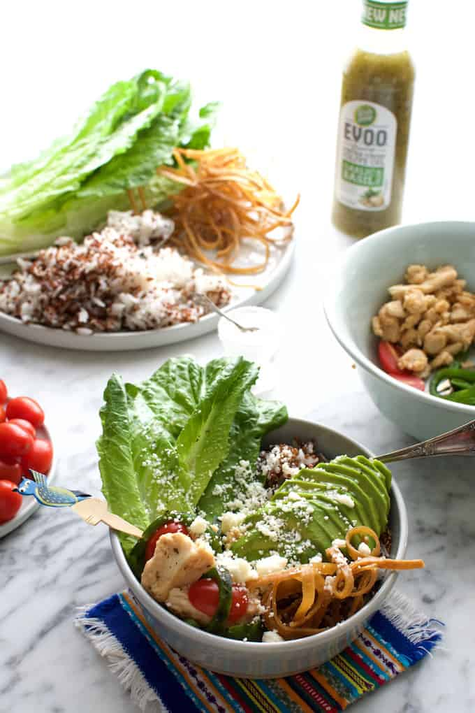 Smoky Chile Relleno Rice Bowl with Chicken Recipe
