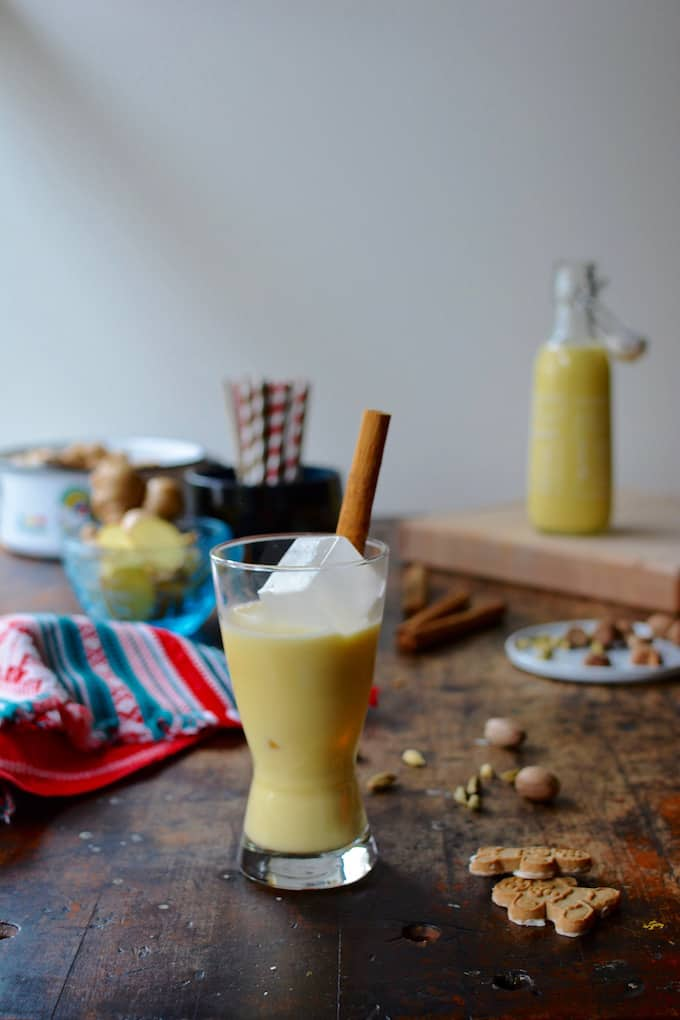 Rompope is the Mexican version of eggnog, the creamy, sweet Christmas drink. This non-alcoholic version is made with cardamom, nutmeg, and fresh ginger.