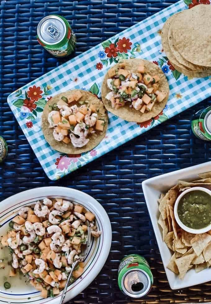 Ceviche tostada bar menu and tips that will have you partying from Memorial Day to Labor Day. #summerentertaining #drinkideas #drinkstation #summerideas #easyentertaining